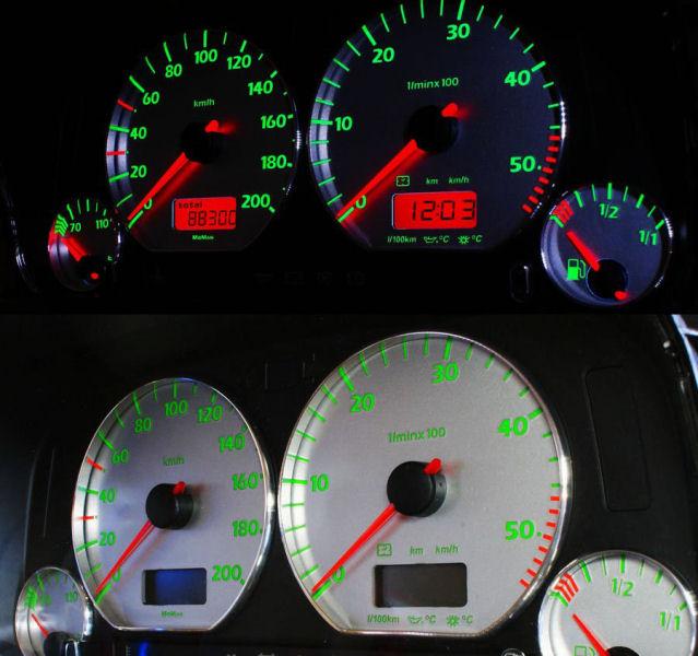 VW Golf 3/ Caddy '96/ Vento – Indiglo Tellerplaten VI