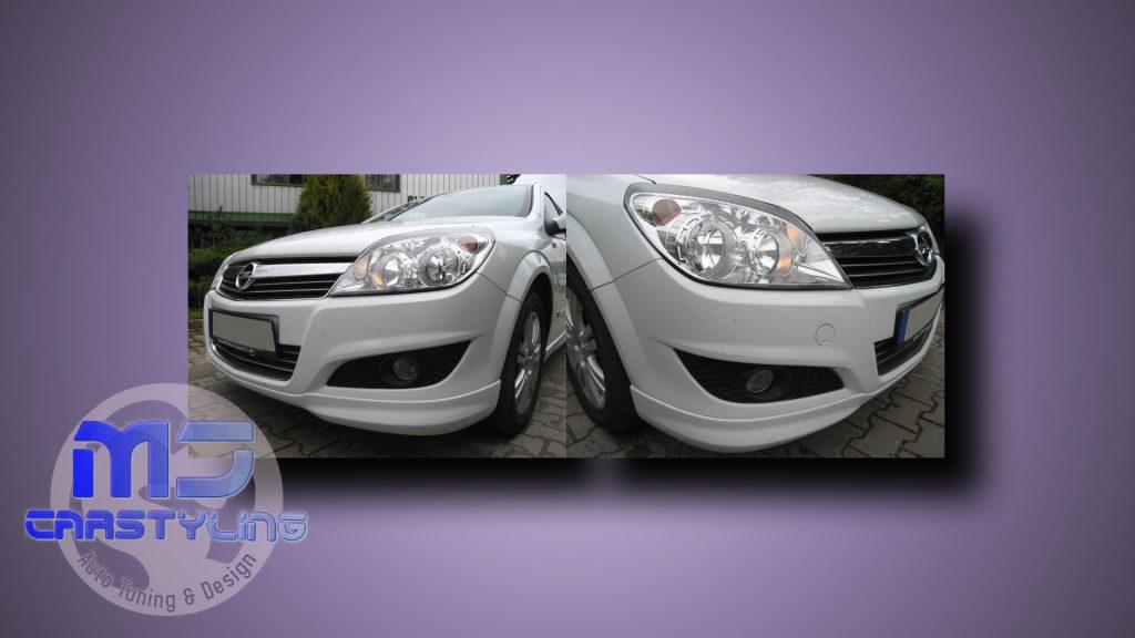 Opel Astra H Facelift – Voorbumper spoiler (OPC Line)